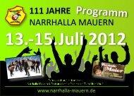 Party de Brasil - Narrhalla Mauern