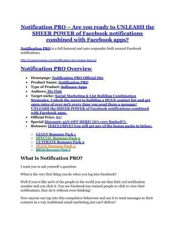 Notification PRO review & massive +100 bonus items