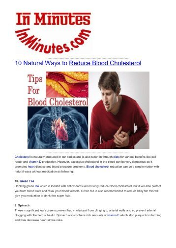 10 Natural Ways to Reduce Blood Cholesterol