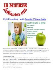 Eight Exceptional Health Benefits Of Green Apple