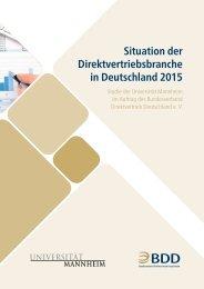 Situation der Direktvertriebsbranche in Deutschland 2015