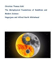 The Metaphysical Foundations of Buddhism and Modern Science: Nagarjuna and Alfred North Whitehed