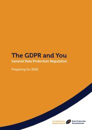 The GDPR and You