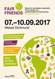 Ausstellerbroschüre FAIR FRIENDS 2017