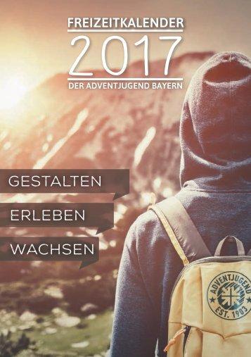 Freizeitkalender 2017 der Adventjugend Bayern