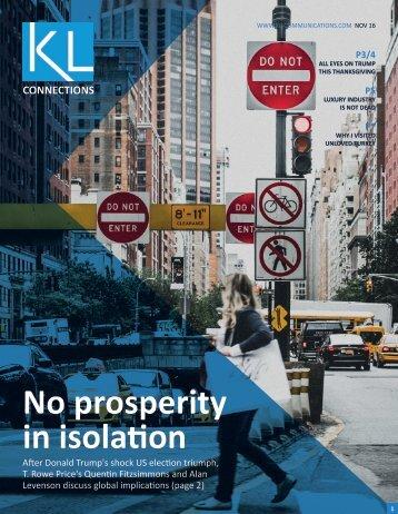 No prosperity in isolation