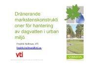 Dränerande markstenskonstrukti oner för hantering av dagvatten i urban miljö