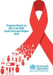 Progress Report on HIV in the WHO South-East Asia Region 2016