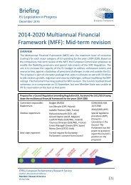 2014-2020 Multiannual Financial Framework (MFF) Mid-term revision