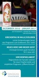 Programm des Evang. Kirchenkreises Halle-Saalkreis für Dezember 2016 und Januar 2017