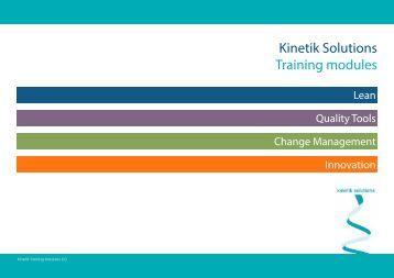 Kinetik Solutions Training modules