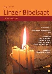 Linzer Bibelsaat: Ausgabe Nr. 139, Dezember 2016