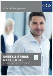 GGS-Broschüre M.Sc. in Management – Dienstleistungsmanagement
