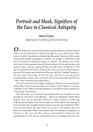 Portrait and Mask, Signifiers of the Face in Classical Antiquity Matti ...