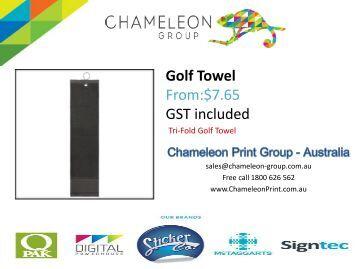 Golf Towel - Chameleon Print Group