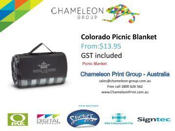Colorado Picnic Blanket - Chameleon Print Group