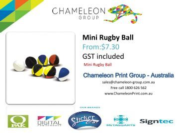 Mini Rugby Ball - Chameleon Print Group