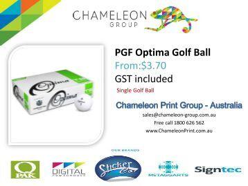 PGF Optima Golf Ball - Chameleon Print Group