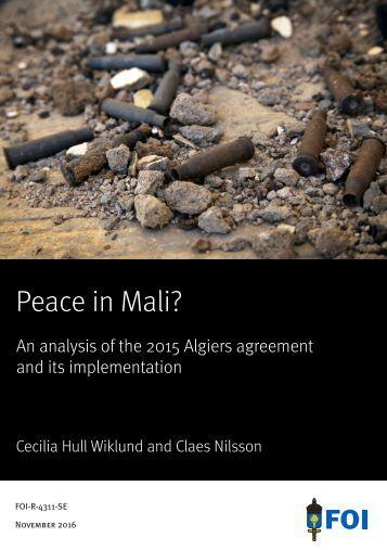 Peace in Mali?