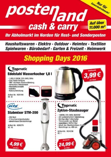 Postenland Cash und Carry