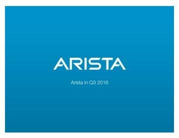 Arista in Q3 2016!