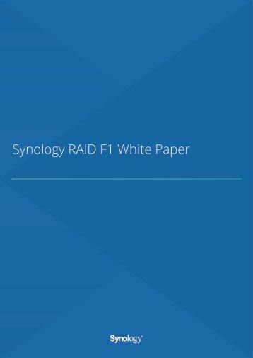 Synology RAID F1 White Paper