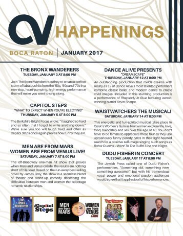 Boca Raton January 2017 Happenings