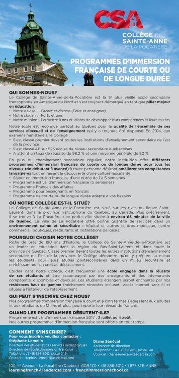 Pages de CSA Encarts français 2017-2018-2