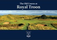 Royal Troon 145th Open Booklet