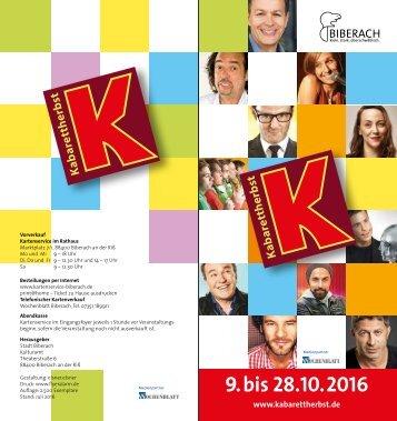 Kabarettherbst 2016
