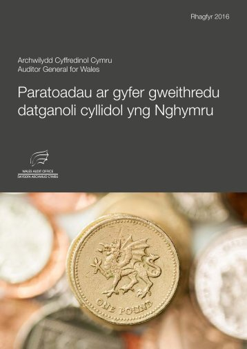 Paratoadau ar gyfer gweithredu datganoli cyllidol yng Nghymru