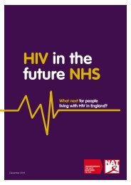HIV in the future NHS