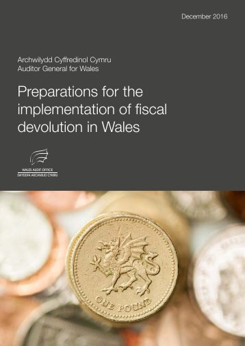 Preparations for the implementation of fiscal devolution in Wales
