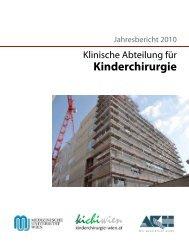 2. Spezialambulanzen - Kinderchirurgie Wien