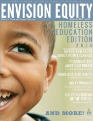 Envision Equity - December 2016 Special Homeless Education Edition