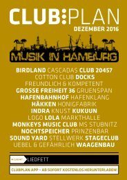 Clubplan Hamburg - Dezember 2016