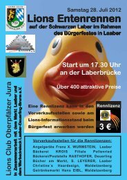 ENTENRENNEN FLYER - Lions Clubs Oberpfälzer Jura