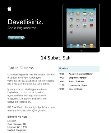 invitation iPad 2 in business