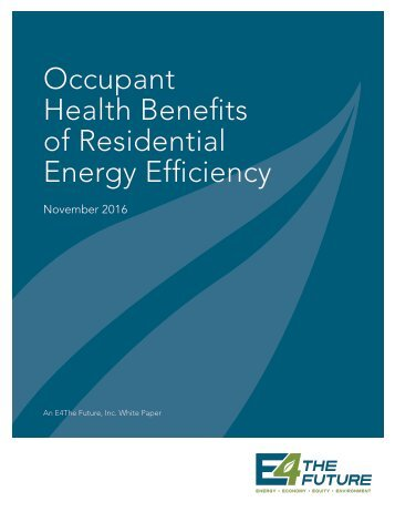 Occupant Health Benefits of Residential Energy Efficiency