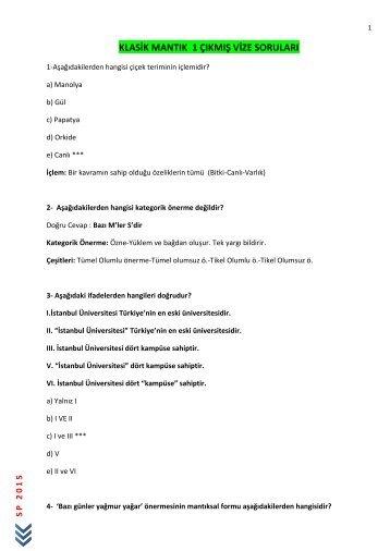 KLASİK MANTIK I ÇIKMIŞ VİZE SORULARI (3)