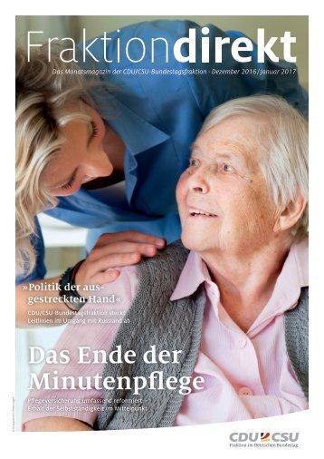 Fraktion direkt - Das Magazin | Ausgabe Dez.2016/Jan.2017
