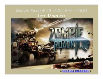 Zombie Roadkill 3D_v1.0.6 APK + CHEAT FREE DOWNLOAD
