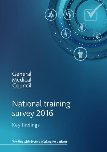 National training survey 2016