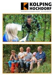 Programmheft Nr. 3/2016 der Kolpingfamilie Hochdorf