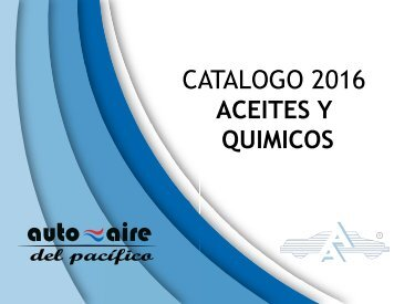 CATALOGO ACEITES Y QUIMICOS 2016