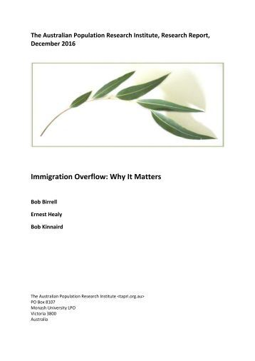 Immigration Overflow Why It Matters