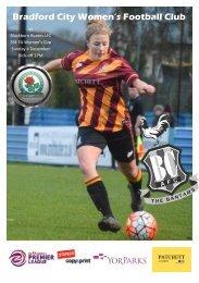 Bradford City WFC vs Blackburn Rovers LFC Programme