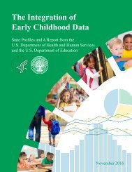 The Integration of Early Childhood Data