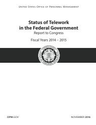 Status of Telework in the Federal Government