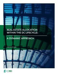 REAL ESTATE ALLOCATION WITHIN THE DC LIFECYCLE A DYNAMIC APPROACH